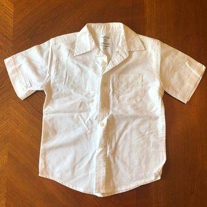 Boys White Button Down Shirt